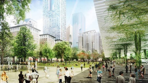 The Pershing Square Renew redesign in L.A. by Agence Ter. Rendering: Agence Ter and Team.