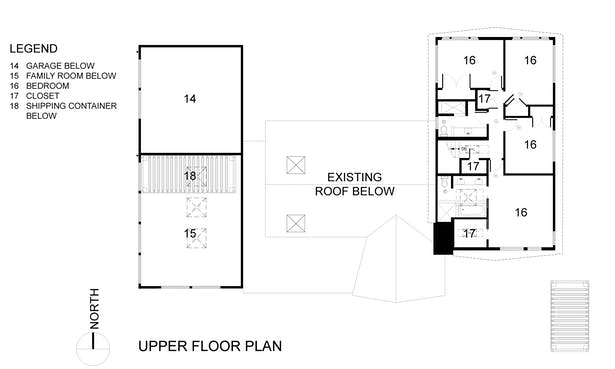 The Wyss Family Container House - Upper Floor Plan