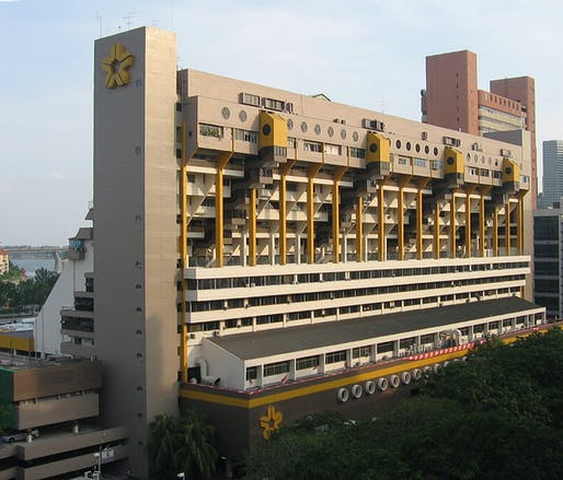 Singapore's Golden Mile Complex, completed in 1973, here photographed in 2007. Image: Wikimedia Commons user Sengkang.