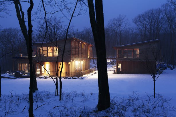 Winter view of the Hudson Valley Country House