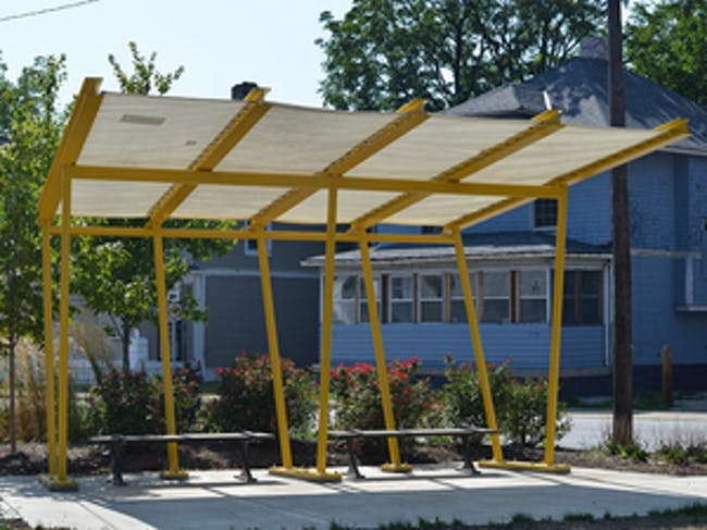 Installation of PUP canopy at Highland Neighborhood Community Greenspace
