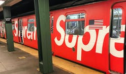 A New York City MTA train has been wrapped in Supreme in new collaboration
