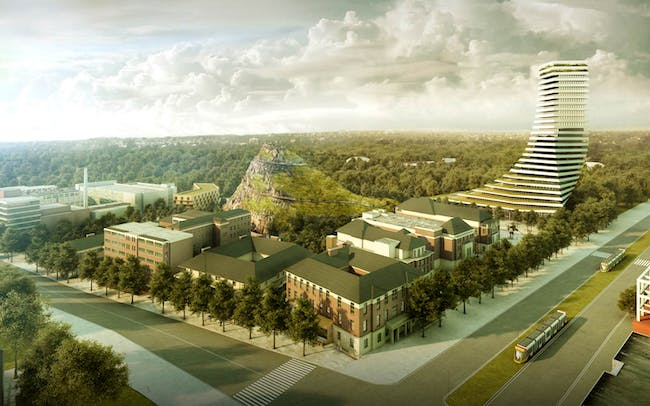 Royal Adelaide Hospital site competition - Second prize + People's Choice Award: NICE Architects with Mulloway Studios
