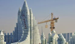 An enormous ice castle worthy of China's biggest bank
