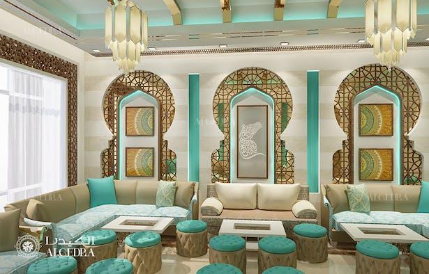 Small Cafe In Abu Dhabi Interior Algedra Design Archinect
