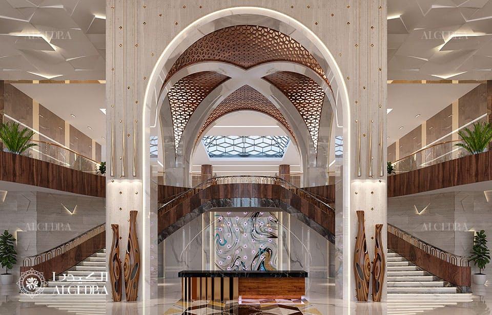 Luxury hotel lobby interior design ALGEDRA design Archinect
