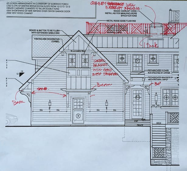 REAR ELEVATION - WORKING REVISIONS