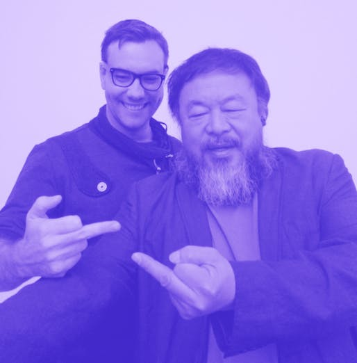 Selfie dissident style: hacktivist Jacob Appelbaum and artist Ai Weiwei. (Photo: Heather Corcoran; Image via fusion.net)