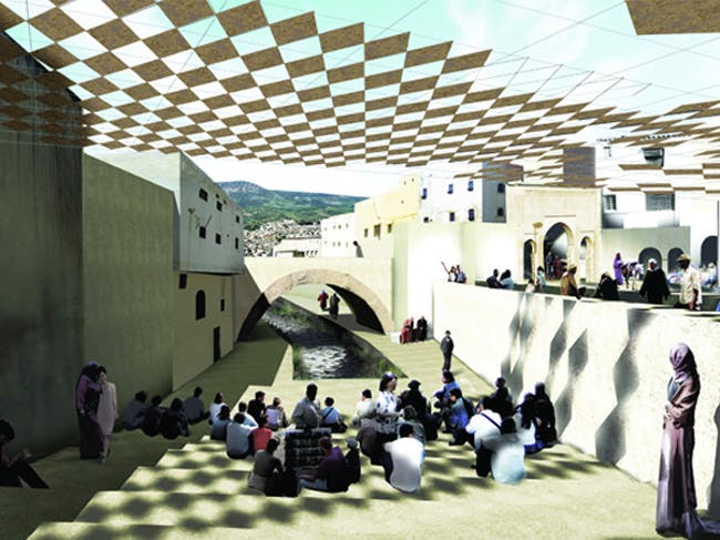 Fez River Project, City of Fez, Morocco, Aziza Chaouni Projects, 2012. Photo via berkeleyprize.org.