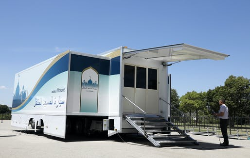 Mobile mosque designed by Yasu Project for the 2020 Olympics in Japan.