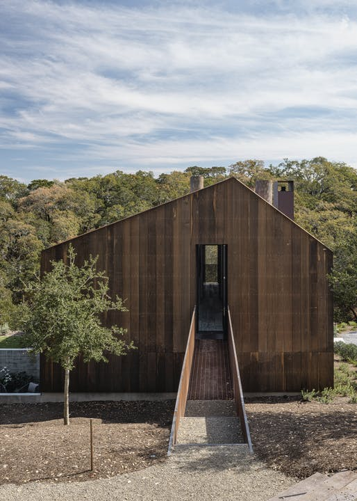 "<a href=""https://archinect.com/faulknerarchitects/project/big-barn"">Big Barn</a> in Glen Ellen, CA by <a href=""https://archinect.com/faulknerarchitects"">Faulkner Architects</a>; Photo: Joe Fletcher"