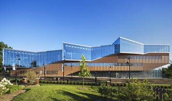 The WEISS/MANFREDI-designed Kent State Center for Architecture and Environmental Design opens