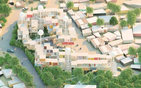 'A Developing Framework - Rethinking the Displacement Housing Crisis in Developing Countries' - Thesis work by Jorge Blandin & Joanne Engelhard.