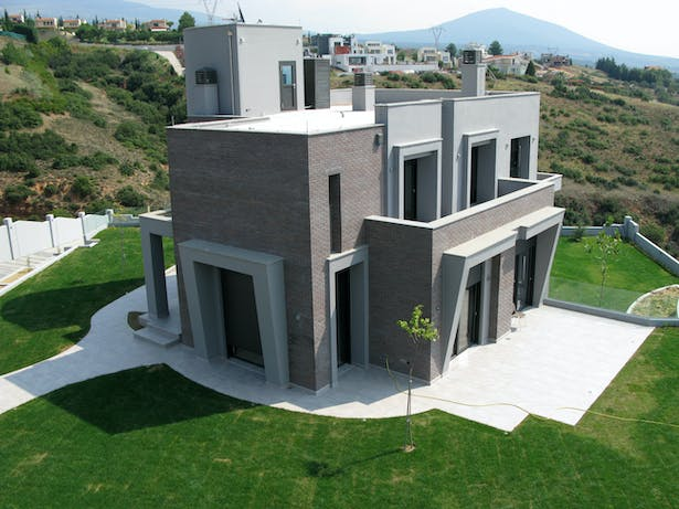 view of the built project