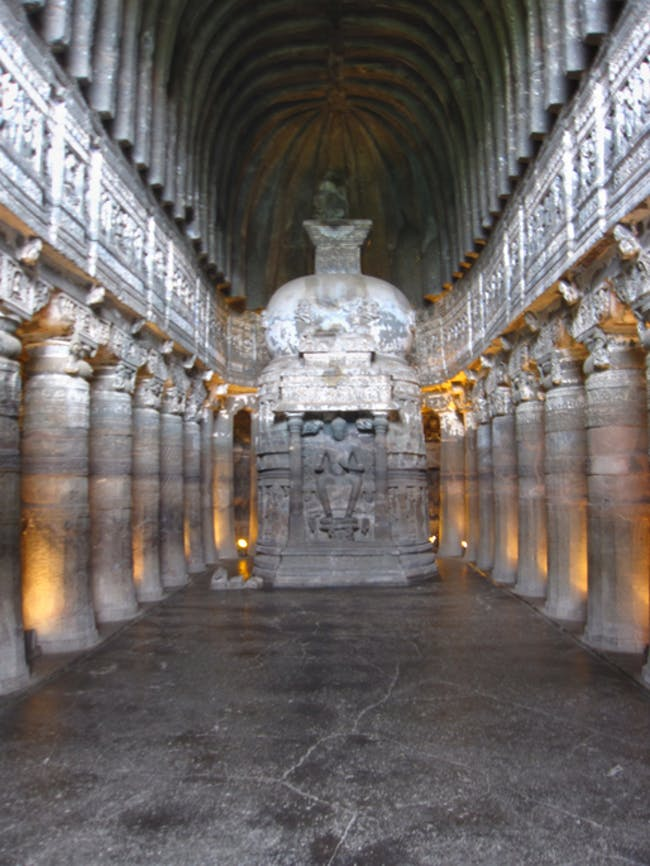 Caves of Ajanta (A chaitya griba) via amlocke.