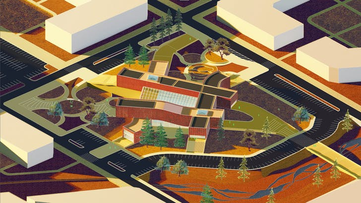 Featured project by Andrew Gonzales, M.Arch., '21, from the research studio, FireCity, with Hitoshi Abe. Image courtesy of UCLA Architecture and Urban Design. 