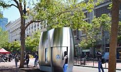 SmithGroup prototypes sleek pod that doubles as public toilet, retail space, and more