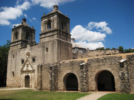 San Antonio Missions, World Heritage Site near San Antonio, Texas. Image via Wikipedia.