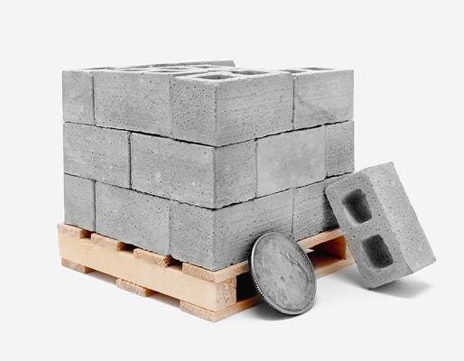 1:12 Scale Mini Cinder Blocks (24pk + Pallet) Image © Mini Materials