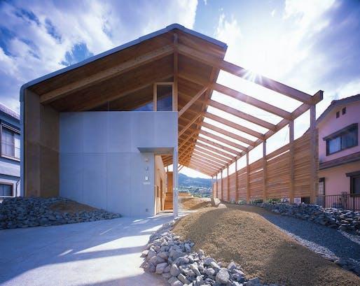 "<a href=""https://archinect.com/RAA_RyuichiAshizawaarchitectandAssociates/project/half-barn-in-hashimoto"">Half Barn</a> in Hashimoto, Japan by <a href=""https://archinect.com/RAA_RyuichiAshizawaarchitectandAssociates"">Ryuichi Ashizawa Architects & Associates</a> / <a href=""https://www.instagram.com/ryuichiashizawa/"">@ryuichiashizawa</a>; Photo: Kaori Ichikawa"
