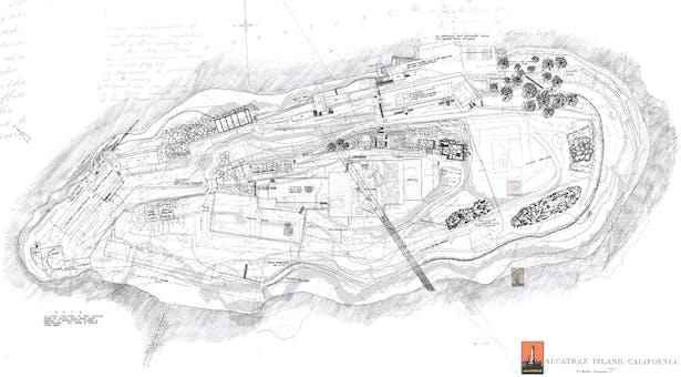 Site Plan of Alcatraz Island
