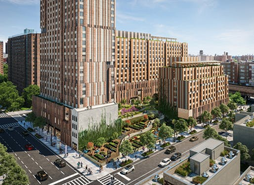 Handel Architects will break ground on a 700-unit affordable housing complex in Harlem this summer. Image courtesy of Handel Architects.