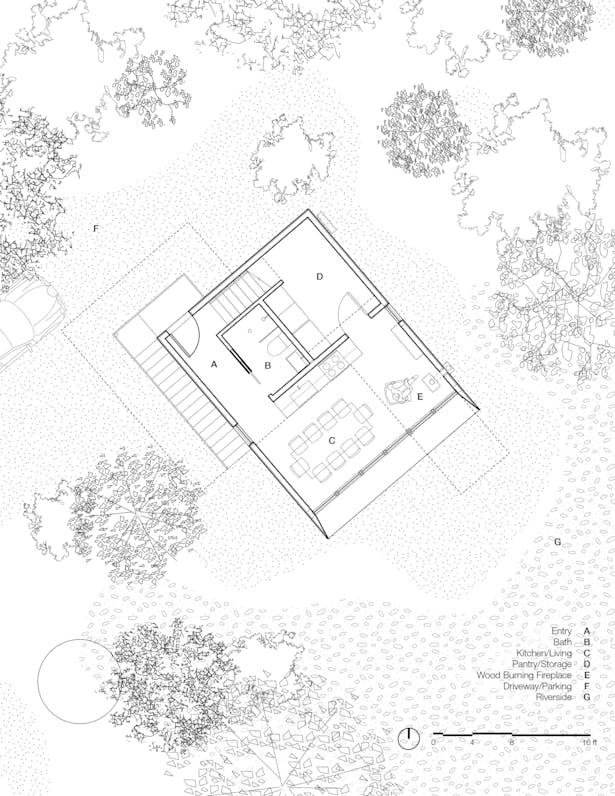 Wenatchee River Cabin - Floor Plan (Wittman Estes)