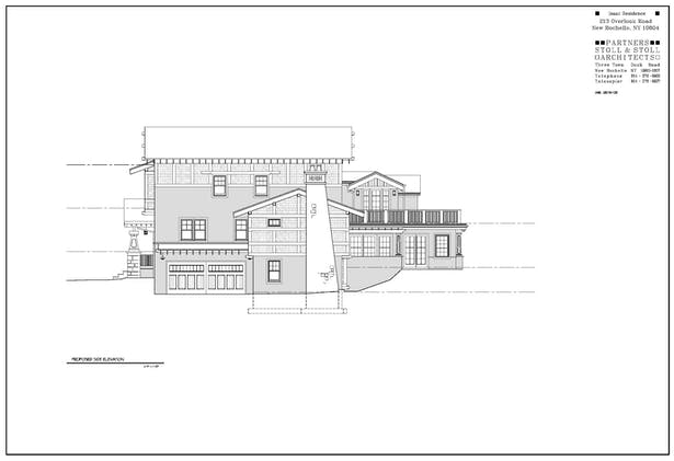 Isaac Residence Side Elevation