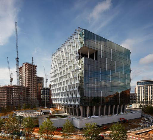 The new United States Embassy on Nine Elms Lane in London will open on January 16. Photo: Richard Bryant / Arcaid Images
