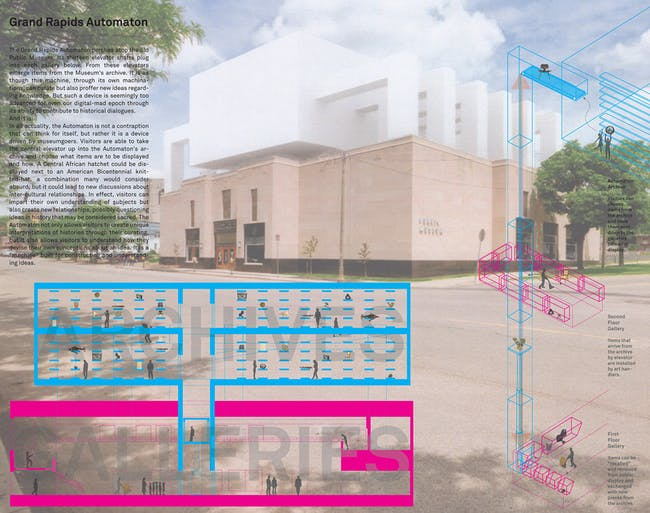 Third prize and student winner: Peter Dumbadze - University of Michigan / Taubman College of Architecture and Urban Planning (Ann Arbor, MI, USA)