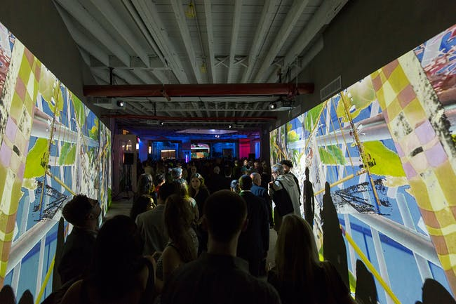 Projection-mapped abstractions by Wild Dogs International. Photo: Leandro Viana