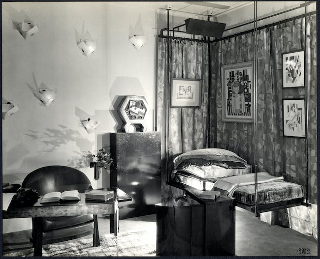 Alcove for Lord & Taylor, New York, 1928, designed by Pierre Chareau. Smithsonian's National Museum of American History. Image provided by the Smithsonian Institution.