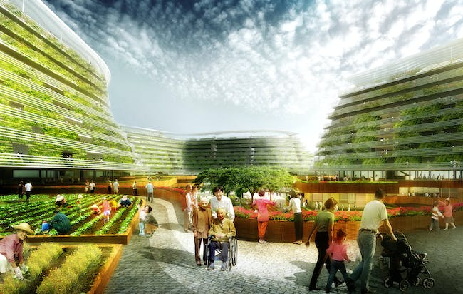 FUTURE PROJECTS - Experimental winner: Home Farm | Singapore. Designed by SPARK.