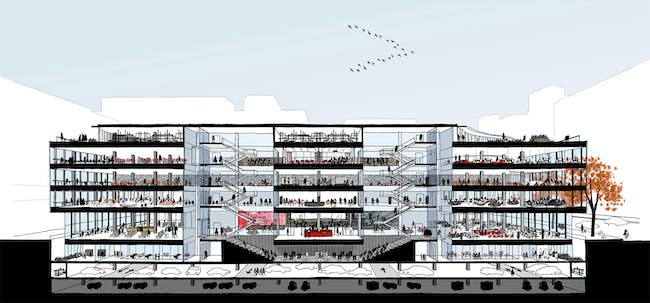 Winning MLK Library proposal by Mecanoo and Martinez + Johnson. Image: Mecanoo and Martinez + Johnson