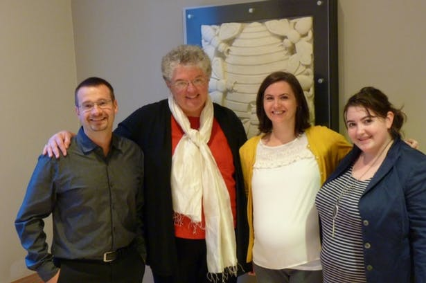 John Mulnati, Carole Wedge, Kathryn Hriczo (B.Arch Class of 2008), and Sarah Sack of Shepley Bulfinch