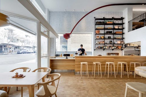 Merit Award, Café/Bar: The Heroic (Santa Monica, California.) Designed by: Preen, Inc. Photo: Brandon Barre.