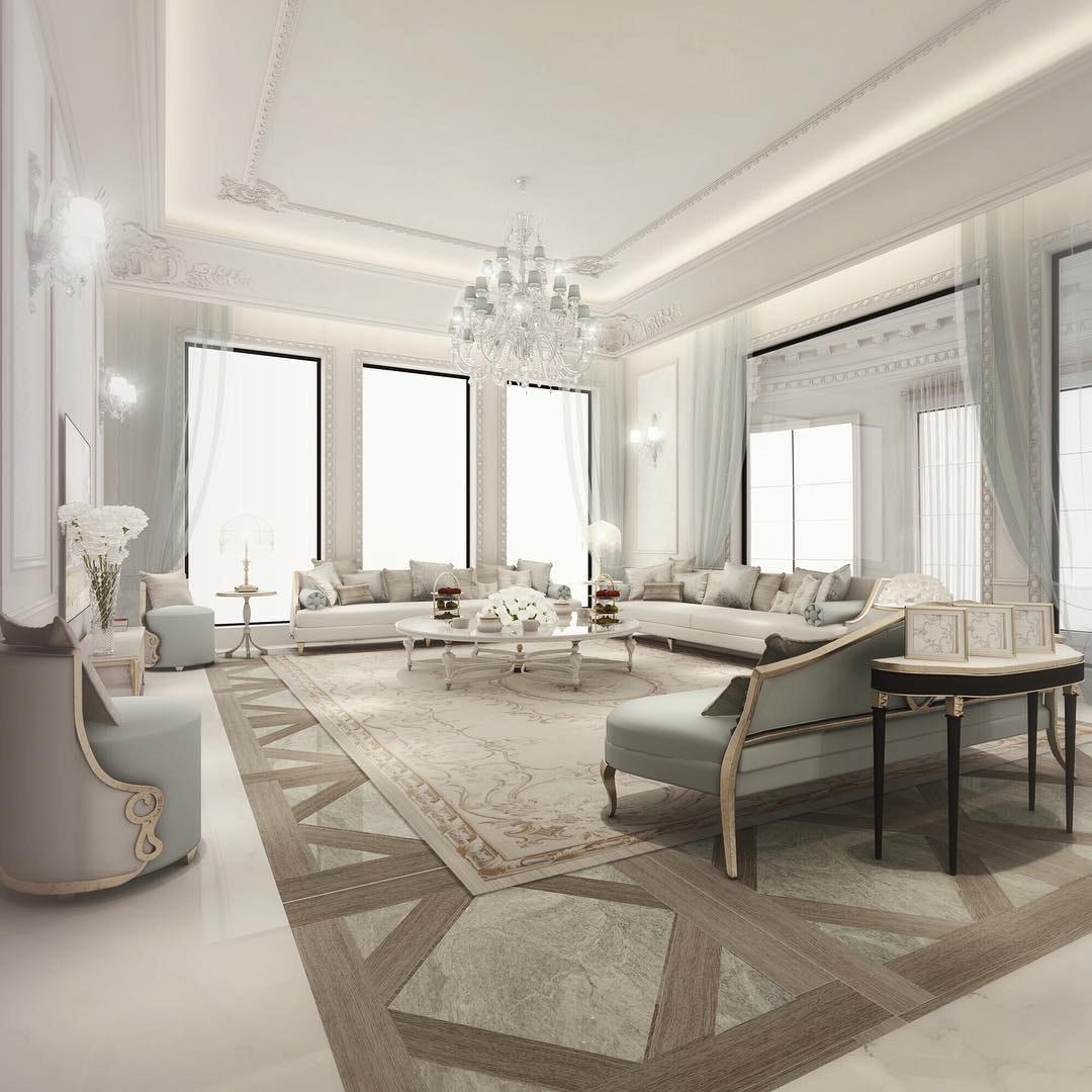 Italian Glam Living Room Design