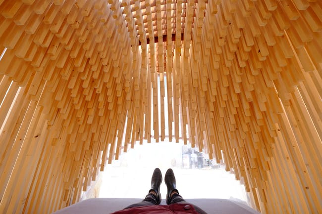 'Carved from wood' by Studio Plots. Photo courtesy UrbanCampsite Amsterdam.