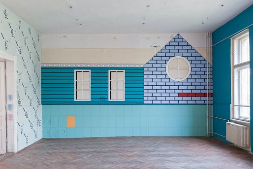 Wall designed by Andrew Kovacs of Archive of Affinities; Exhibition, '12 Walls–Architecture and Contemporary Ornament'. Photo by Balázs Danyi.