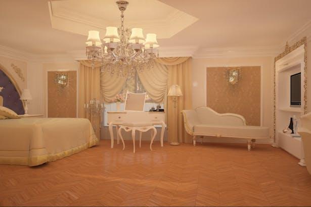 Living open space amenajat in stil clasic