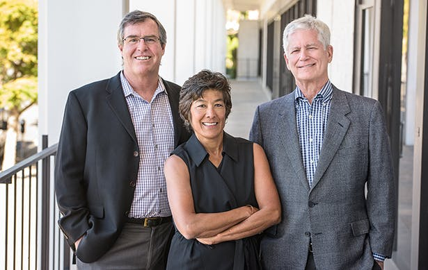Partner Daniel Stewart, AIA, Partner Janene Christopher, AIA, and Managing Partner for the San Diego office James Robbins, AIA, NCARB, LEED AP