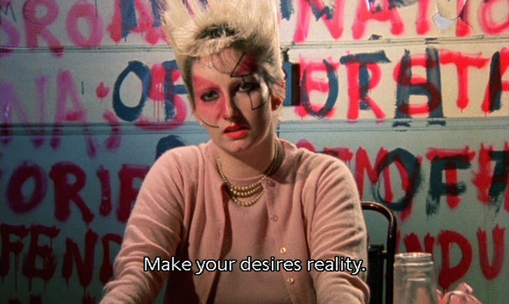 Still from Jubilee by Derek Jarman (1978).