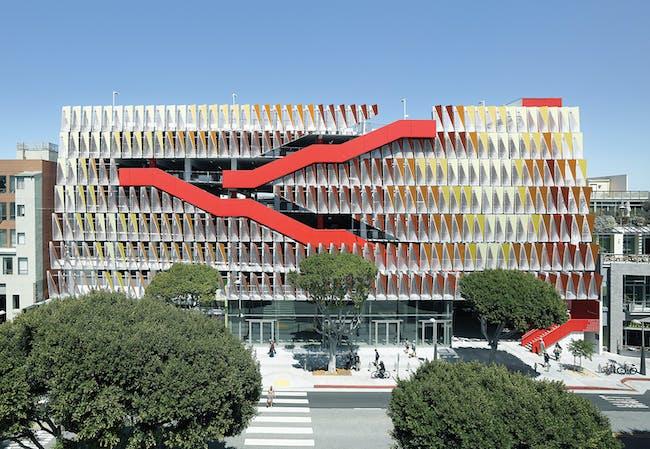 MERIT: Santa Monica Public Parking Structure #6 by Behnisch Architekten & Studio Jantzen in Santa Monica, CA. Photo courtesy of AIA|LA Design Awards 2014.