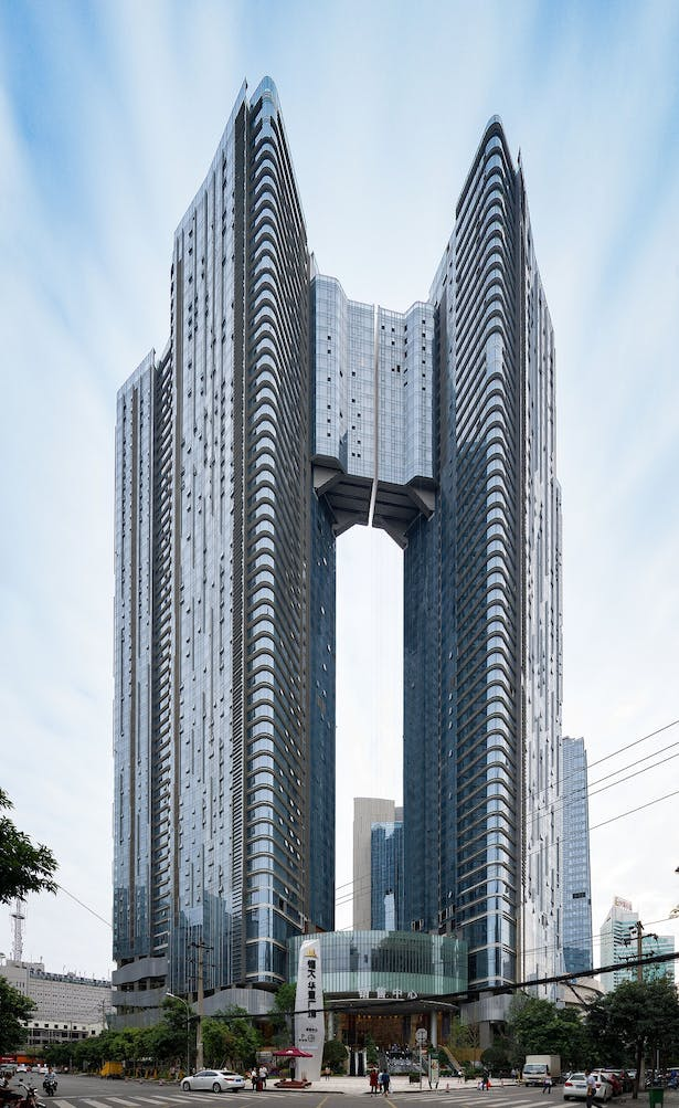 Evergrande Huazhi Plaza, Chengdu, China, by Aedas - Residential Towers