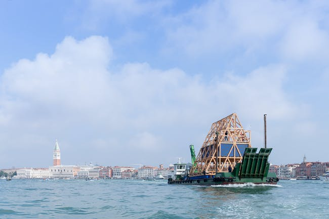 Makoko Floating School II at the Venice Biennale 2016. ©Iwan Baan