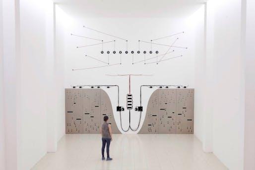 Naama Tsabar, 'Propagation (Opus 3)' (2015). Photo via Museum of Arts and Design/Facebook.