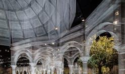 Edoardo Tresoldi builds a ghostly wire mesh structure in Abu Dhabi