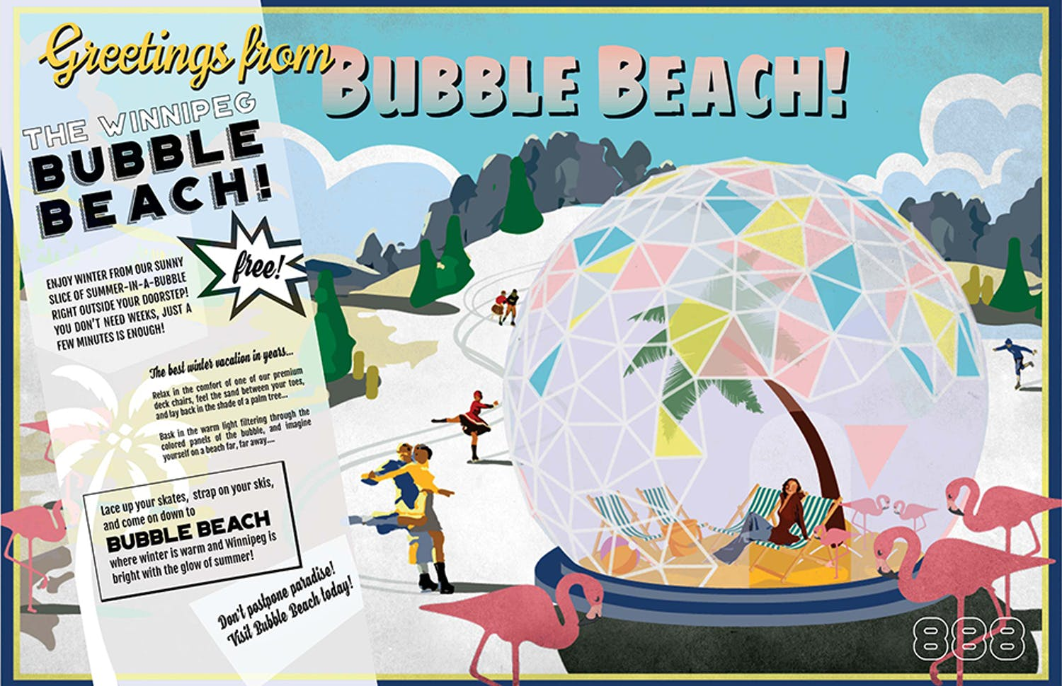 "b45002d755a Winner  ""Greetings From Bubble Beach"" by Team 888 from Chicago"