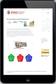 Designed responsive, ecommerce website for Richmond Chapter of IFMA