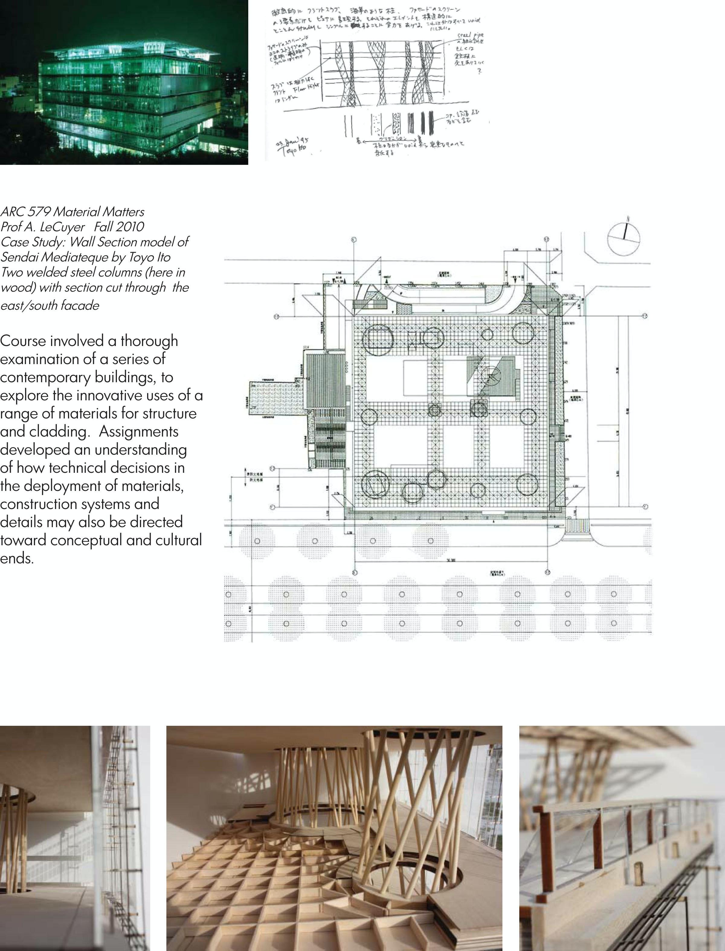 fabrication model  sendai mediatheque